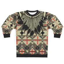 Load image into Gallery viewer, polyester blend all over print sweatshirt to match jordan 6 travis scott cactus jack olive beacon feathered v1
