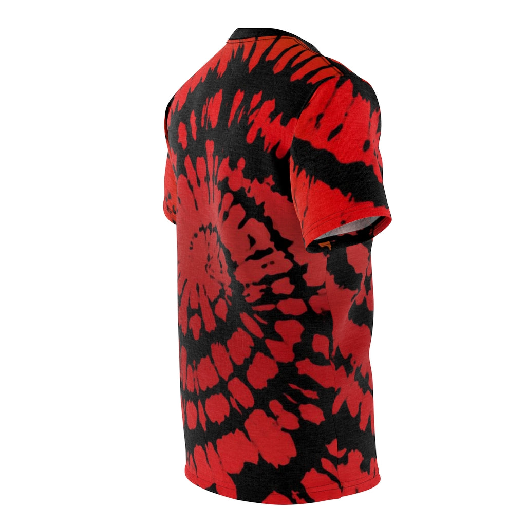 habanero red foamposite sneakermatch shirt tie dye print cut sew