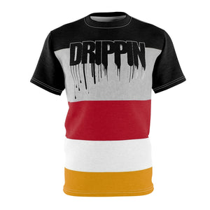 mens colorblock drippin t shirt for jordan 7 reflections of a champion aj7 sneaker match cut sew t shirt