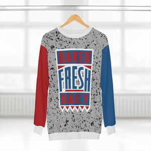 polyester sweatshirt to match jordan 4 retro baked fresh daily cement