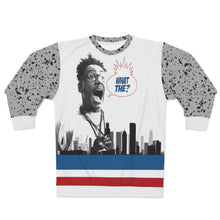 Load image into Gallery viewer, polyester sweatshirt to match jordan 4 retro what the skyline and cement throwback style by chef