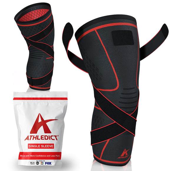 Knee Brace Compression Sleeve with X Strap