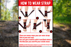 Plantar Fasciitis Sock Sleeve with Ankle Brace Strap