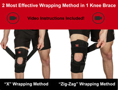 Hinged Knee Brace Support with X-Strap - Maximum Support & Flexibility at The Same Time