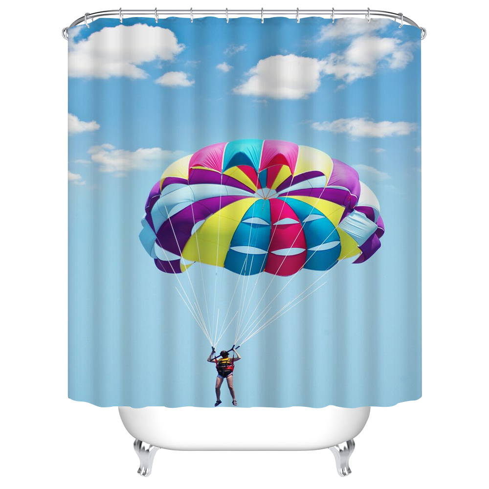 180180 3d Print Sport Shower Curtain AA 003