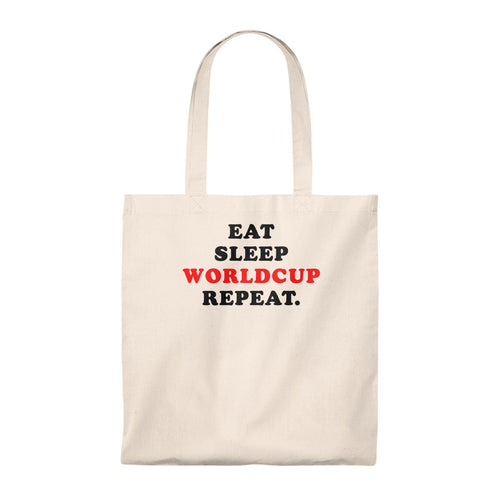 Tote Bag - Eat sleep worldcup repeat