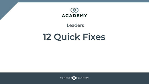 Course 2020.331.000.IN - 12 Quick Fixes: Leaders version