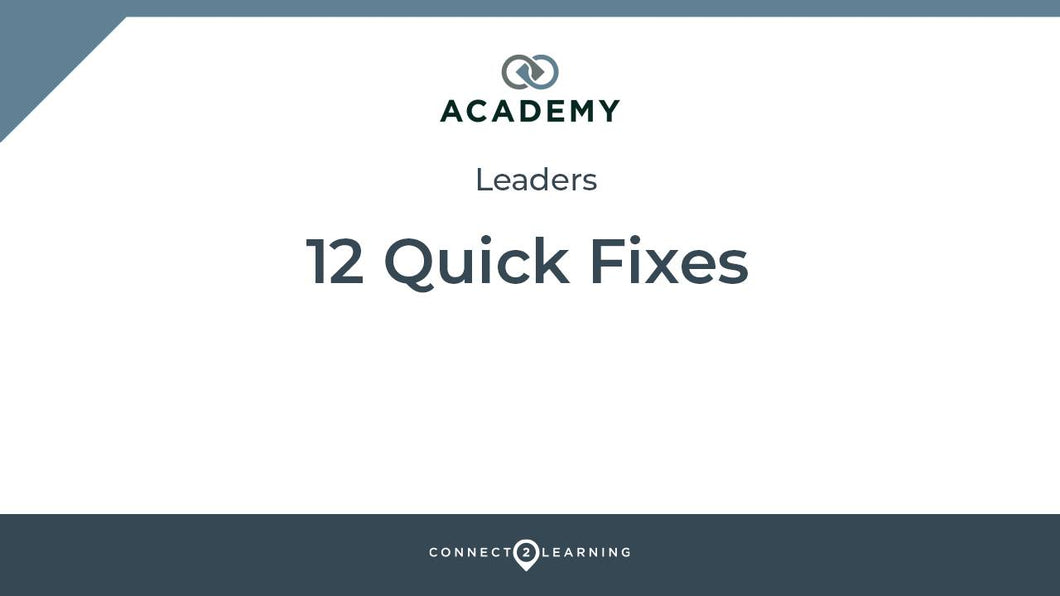 2020.331.000.IN - 12 Quick Fixes: Leading Teaching and Assessment in These Times