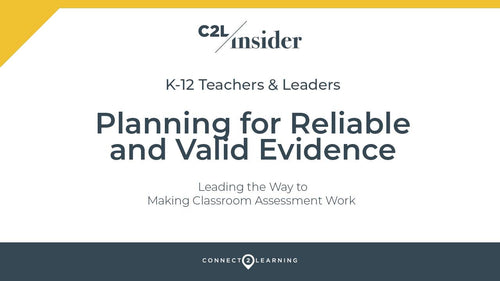 322.000.IN - Planning for Reliable and Valid Evidence