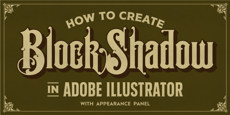 Tutorial Create Block Shadow in Adobe Illustrator