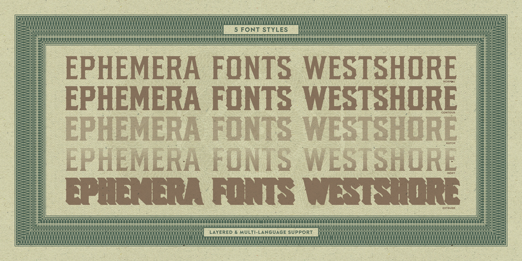 Ephemera Westshore Fonts & Graphic Elements