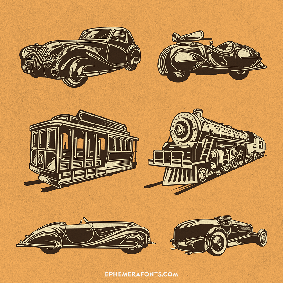 Assorted Transportation Illustrations 01