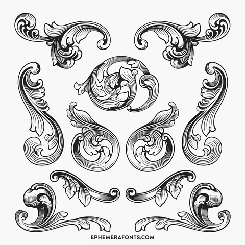 Engraved Ornaments 01 Part 3