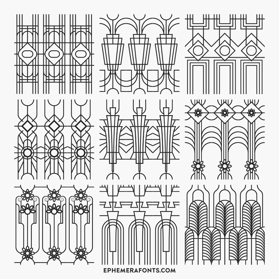 Ephemera Art Deco Patterns 01