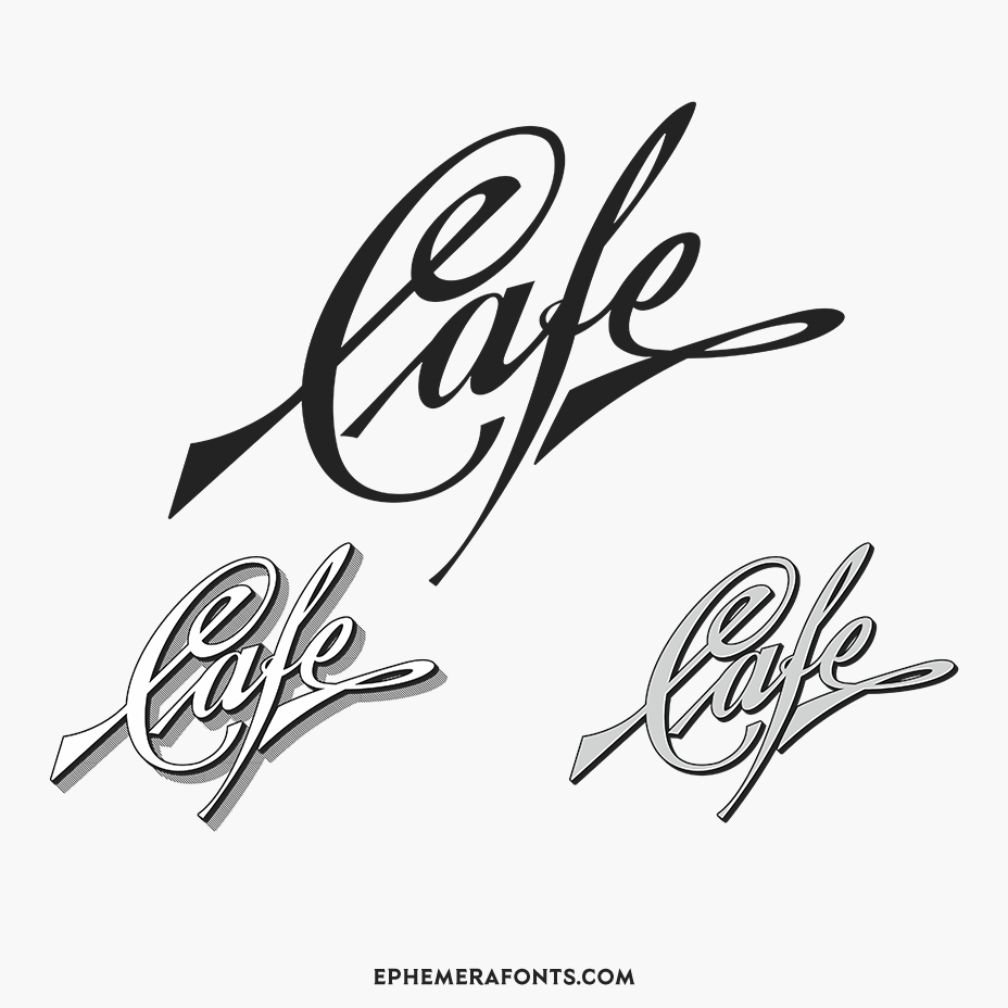 Ephemera Cafe Lettering