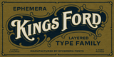Ephemera Kingsford Fonts & Ornaments