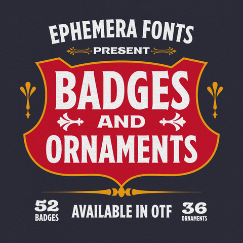 Ephemera Badges & Ornaments