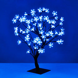 Decorative Blue Blossom Bonsai Style LED Tree Light
