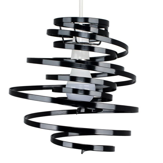 Bensson Twisted Black Pendant Shade
