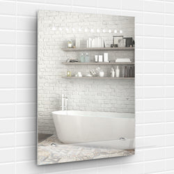 Battery Operated Light Up IP44 Bathroom Mirror With Shelf
