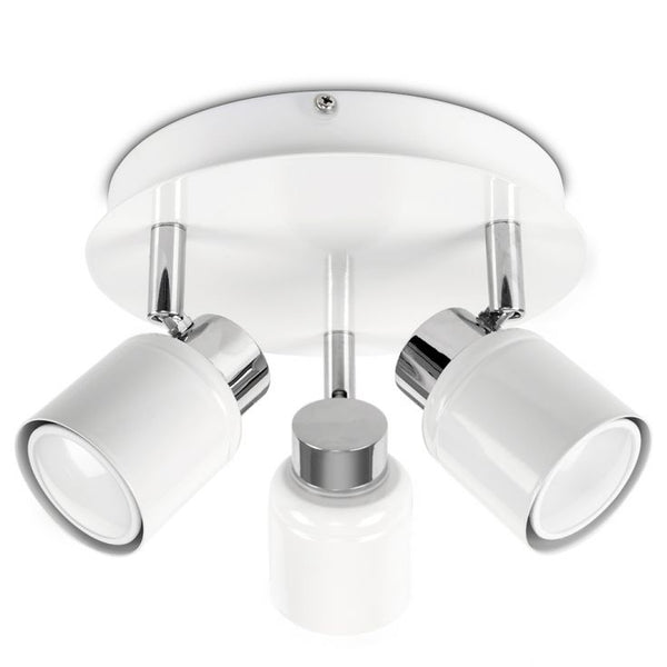 Benton IP44 3-Way Ceiling Spotlight in White
