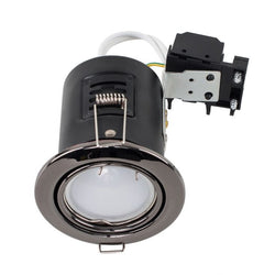 MiniSun Tiltable Fire Rated Downlight in Black Chrome