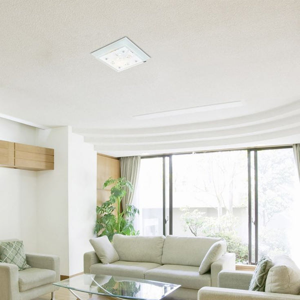 Mirage Square Glass Ceiling Light with K5 Crystals