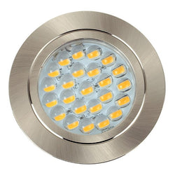 Voyager Satin  Nickel Recessed LED Downlight in Warm White