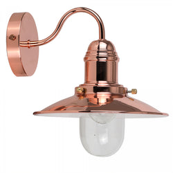 Industrial Style Fisherman's Wall Light in Copper