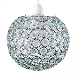 Small Ducy Pendant Shade in Duck Egg Blue