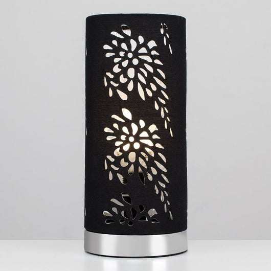 Laser Cut Black Touch Table Lamp