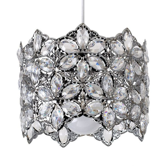 Draiper Acrylic Pendant Shade in Chrome and Clear