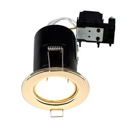 MiniSun Fire Rated Downlight in Gold