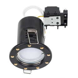 Portishead Fire Rated Downlight in Black and Gold