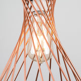 Paxton Lattice Pendant Shade in Copper