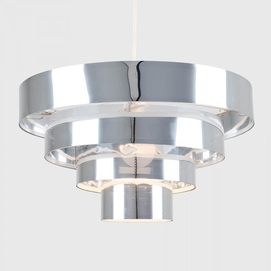 Nevada 4 Tiered Pendant Shade in Silver