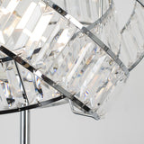 Hudson Intertwined Touch Floor Lamp in Chrome and Clear