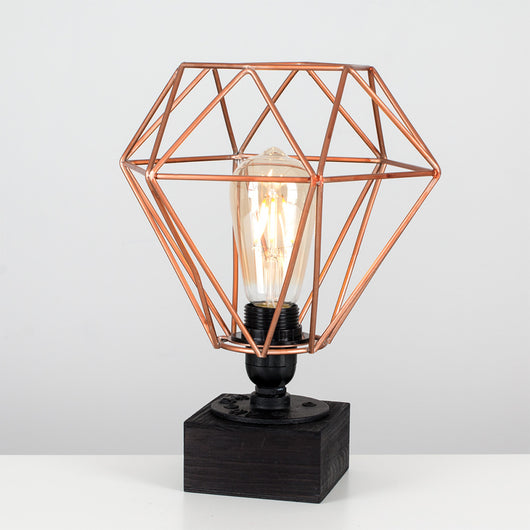 Hebden Table Lamp with Diablo Shade in Copper