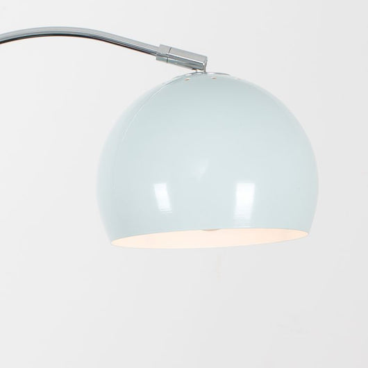 Curva Floor Lamp in Chrome with Pale Blue Shade