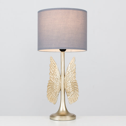 Angel Wings Table Lamp with Grey Shade