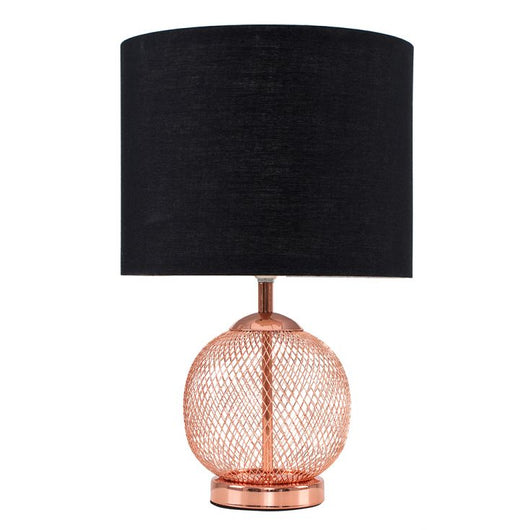 Regina Touch Lamp with Black Shade