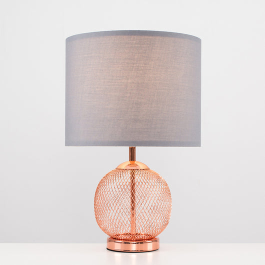Regina Touch Lamp with Grey Shade