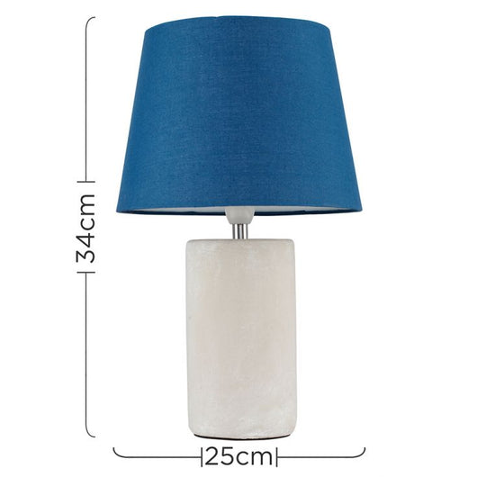 Austin Table Lamp with Navy Blue Aspen Shade