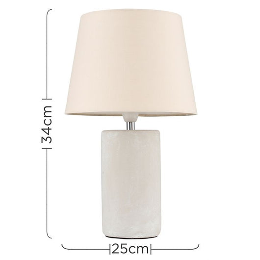 Austin Table Lamp with Beige Aspen Shade
