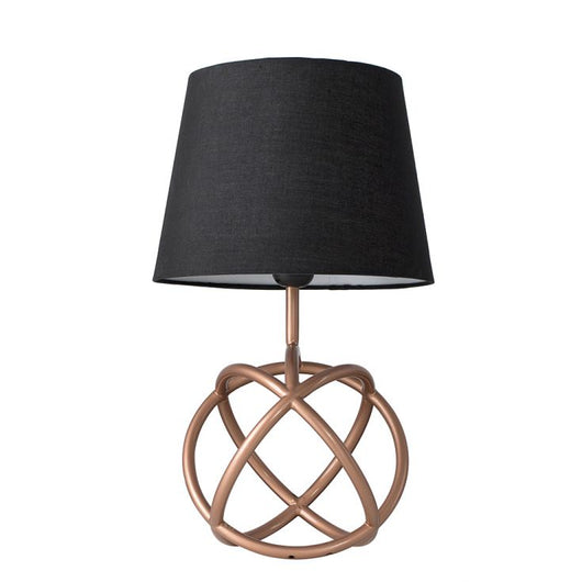 Neutron Copper Table Lamp with Black Aspen Shade