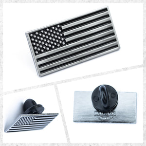 Subdued American Flag Lapel Pin (1, 3, or 5 Pins)