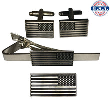 Load image into Gallery viewer, Reverse American Flag Full Set (Lapel Pin, Cuff Links, Tie Clip)