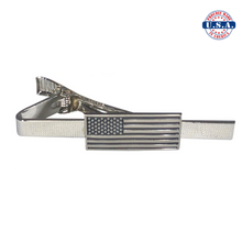 Load image into Gallery viewer, Subdued American Flag Tie-Clip