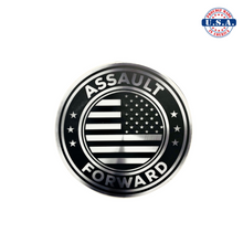 Load image into Gallery viewer, Assault Forward logo sticker, round