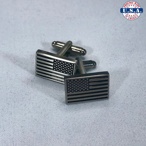 Reverse American Flag Full Set (Lapel Pin, Cuff Links, Tie Clip)